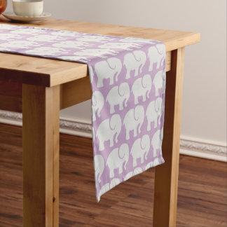 Pattern Of Elephants, Elephant Design - Purple Medium Table Runner