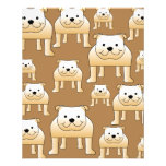 Pattern of Fawn English Bulldogs on Brown. Flyers
