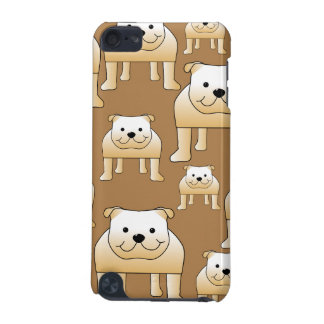 Pattern of Fawn English Bulldogs on Brown. iPod Touch (5th Generation) Cover