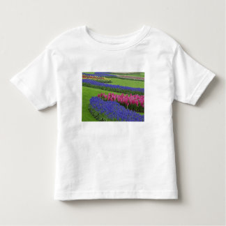 Pattern of Grape Hyacinth, tulips, and Toddler T-shirt