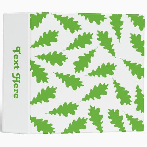 Pattern of Green Leaves. 3 Ring Binder