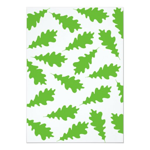 Pattern of Green Leaves. 5x7 Paper Invitation Card