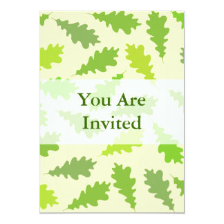 Pattern of Green Leaves. Custom Invitations