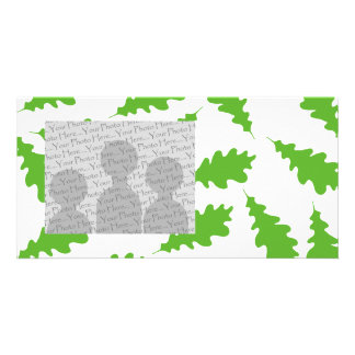 Pattern of Green Leaves. Customized Photo Card