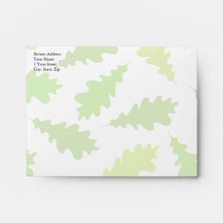 Pattern of Green Leaves. Envelopes