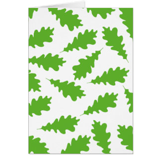 Pattern of Green Leaves. Greeting Cards