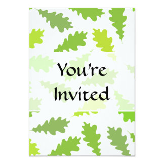 Pattern of Green Leaves. Invite