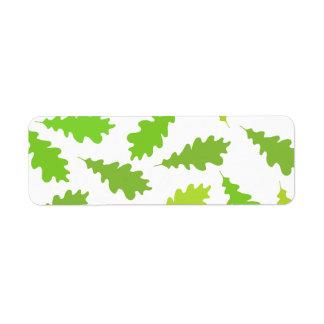 Pattern of Green Leaves. Return Address Label
