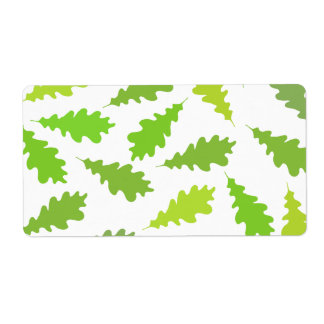Pattern of Green Leaves. Shipping Label