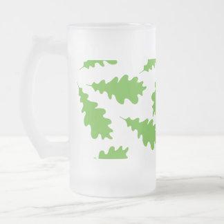 Pattern of Green Leaves. Mug