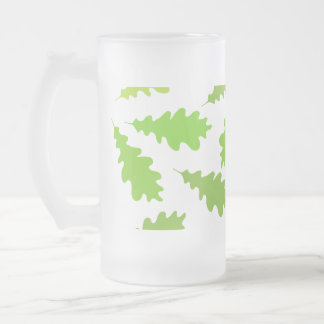 Pattern of Green Leaves. Coffee Mug