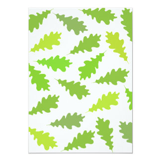 Pattern of Green Leaves. Personalized Invites