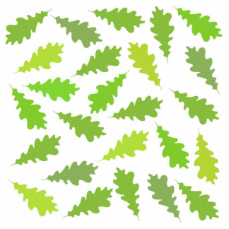 Pattern of Green Leaves. Cut Out