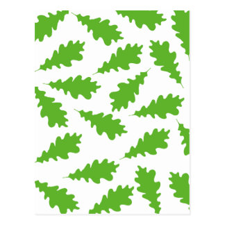Pattern of Green Leaves. Post Card