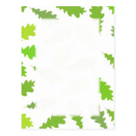 Pattern of Green Leaves. Postcards