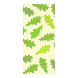Pattern of Green Leaves. Rack Card