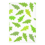 Pattern of Green Leaves. Stationery