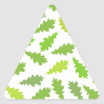 Pattern of Green Leaves. Triangle Stickers