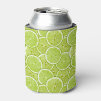 Pattern Of Green Lime Slices Can Cooler