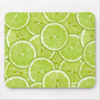 Pattern Of Green Lime Slices Mouse Pad