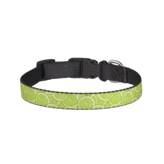 Pattern Of Green Lime Slices Pet Collar