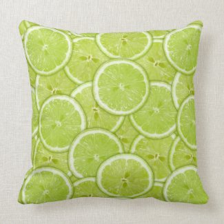 Pattern Of Green Lime Slices Pillows
