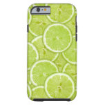 Pattern Of Green Lime Slices Tough iPhone 6 Case
