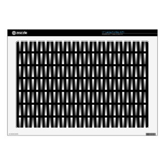 """Pattern of grey rectangles with black background. 17"""" laptop decal"""