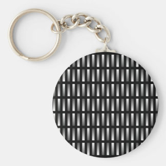 Pattern of grey rectangles with black background. keychain