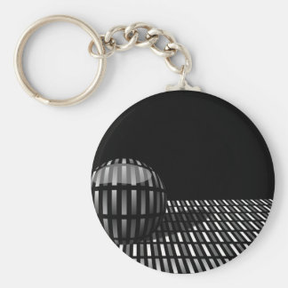 Pattern of grey rectangles with with a ball on a keychain