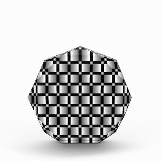Pattern of grey squares with black background. acrylic award