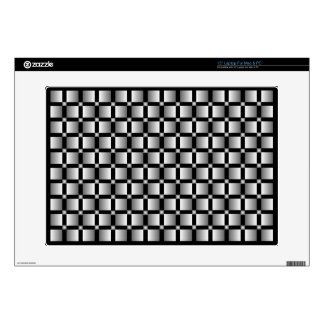 """Pattern of grey squares with black background. skin for 15"""" laptop"""