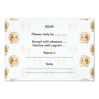 Pattern of Guinea Pigs. 3.5x5 Paper Invitation Card