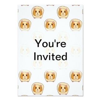 Pattern of Guinea Pigs. 5x7 Paper Invitation Card
