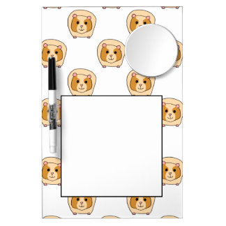 Pattern of Guinea Pigs. Dry Erase Board With Mirror