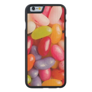Pattern of jelly beans carved maple iPhone 6 slim case