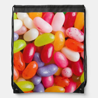 Pattern of jelly beans drawstring backpack