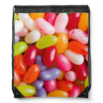 Pattern of jelly beans drawstring bag