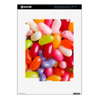 Pattern of jelly beans iPad 3 decals