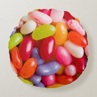 Pattern of jelly beans round pillow