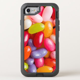 Pattern of jelly beans OtterBox defender iPhone 8/7 case