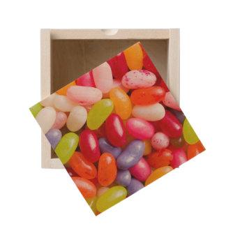 Pattern of jelly beans wooden keepsake box