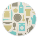 Pattern Of Kitchen Tools Ceramic Knob