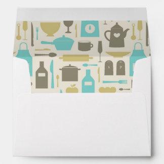 Pattern Of Kitchen Tools Envelope