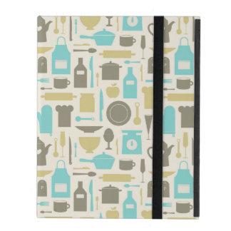 Pattern Of Kitchen Tools iPad Folio Cases