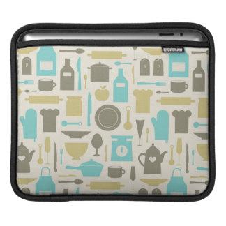 Pattern Of Kitchen Tools iPad Sleeve