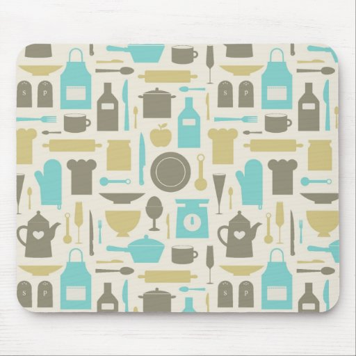 Pattern Of Kitchen Tools Mouse Pads