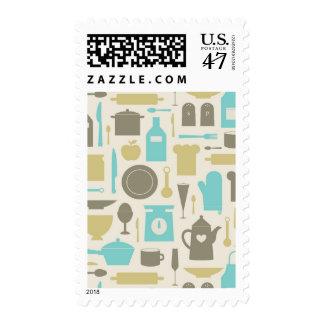 Pattern Of Kitchen Tools Postage
