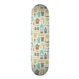 Pattern Of Kitchen Tools Skateboard
