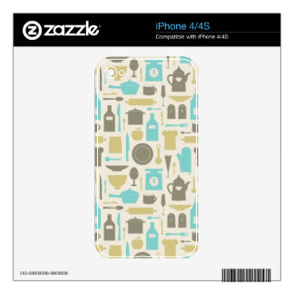 Pattern Of Kitchen Tools Skin For iPhone 4S
